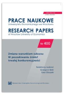 Kierunki badań klastrów. Prace Naukowe Uniwersytetu Ekonomicznego we Wrocławiu = Research Papers of Wrocław University of Economics, 2015, Nr 400, s. 56-70