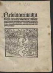 Resolutorium dubiorum circa celebrationem missarum occurrentium