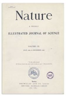 Nature : a Weekly Illustrated Journal of Science. Volume 110, 1922 August 26, [No. 2756]