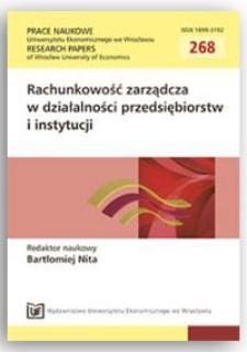 Przydatność informacyjna rachunkowości zarządczej w zarządzaniu przedsiębiorstwem. Prace Naukowe Uniwersytetu Ekonomicznego we Wrocławiu = Research Papers of Wrocław University of Economics, 2012, Nr 268, s. 21-42