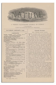 Nature : a Weekly Illustrated Journal of Science. Volume 111, 1923 January 6, [No. 2775]