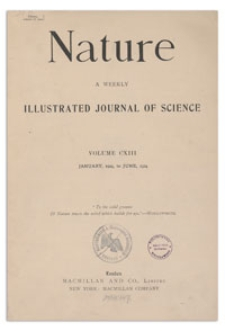 Nature : a Weekly Illustrated Journal of Science. Volume 113, 1924 June 14, [No. 2850]