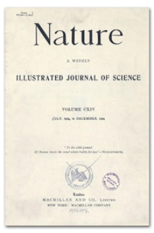 Nature : a Weekly Illustrated Journal of Science. Volume 114, 1924 November 8, [No. 2871]