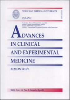 Advances in Clinical and Experimental Medicine, Vol. 18, 2009, nr 2