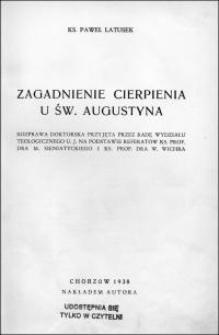 Zagadnienie cierpienia u św. Augustyna