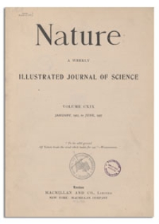 Nature : a Weekly Illustrated Journal of Science. Volume 119, 1927 March 19, [No. 2994]