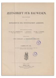 Zeitschrift für Bauwesen, Jr. LX, 1910, H. 10-12