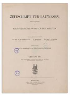 Zeitschrift für Bauwesen, Jr. LXI, 1911, H. 4-6