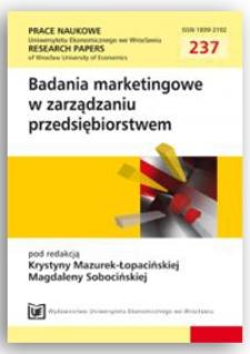 Motywacja racjonalności w korzystaniu z ICT w procesie podejmowania decyzji zakupowych przez konsumenta w świetle wyników badań empirycznych. Prace Naukowe Uniwersytetu Ekonomicznego we Wrocławiu = Research Papers of Wrocław University of Economics, 2011, Nr 237, s. 85-98