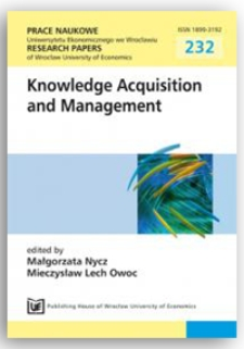 Selected instruments of controlling used in the area of knowledge management. Prace Naukowe Uniwersytetu Ekonomicznego we Wrocławiu = Research Papers of Wrocław University of Economics, 2011, Nr 232, s. 9-18