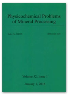 Physicochemical Problems of Mineral Processing. Vol. 52, 2016, Issue 1