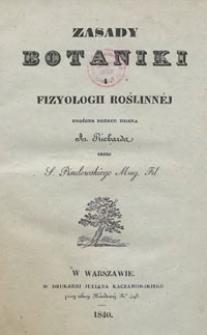 Zasady botaniki i fizyologii roślinnej