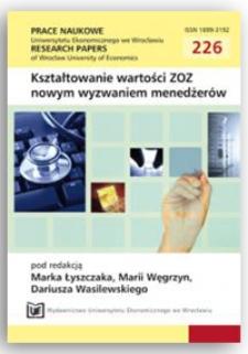 Badanie poziomu oczekiwań i zadowolenia hospitalizowanych pacjentów – wybrane aspekty. Prace Naukowe Uniwersytetu Ekonomicznego we Wrocławiu = Research Papers of Wrocław University of Economics, 2011, Nr 226, s. 139-149