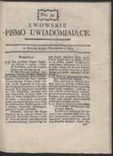 Lwowskie Pismo Uwiadamiaiące. Nr 34