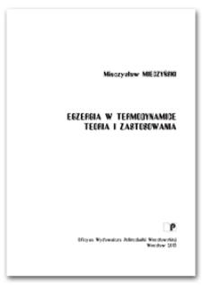Egzergia w termodynamice : teoria i zastosowania