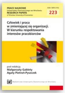 Orientacja na pracownika jako klienta wewnętrznego w organizacji. Prace Naukowe Uniwersytetu Ekonomicznego we Wrocławiu = Research Papers of Wrocław University of Economics, 2011, Nr 223, s. 298-309