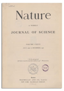 Nature : a Weekly Illustrated Journal of Science. Volume 126, 1930 November 22, [No. 3186]