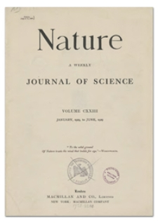 Nature : a Weekly Illustrated Journal of Science. Volume 123, 1929 January 12, [No. 3089]