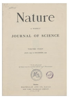 Nature : a Weekly Illustrated Journal of Science. Volume 124, 1929 October 12, [No. 3128]
