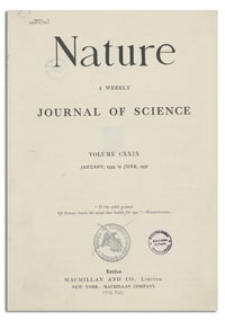 Nature : a Weekly Illustrated Journal of Science. Volume 129, 1932 May 28, [No. 3265]