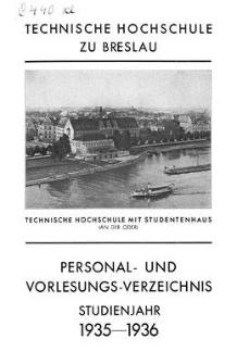 Personal- und Vorlesungs- Verzeichnis : Studienjahr 1935-1936 ; Winter-Semester 1935-1936 - Sommer-Semester 1936
