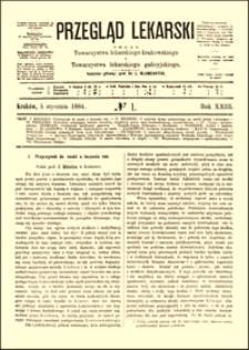 Przyczynek do nauki o leczeniu ran, Przegląd Lekarski, 1884, R. 23, nr 1, s. 1-3