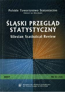 Śląski Przegląd Statystyczny, 2007, Nr 6 (12)