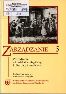 Prace Naukowe Akademii Ekonomicznej im. Oskara Langego we Wrocławiu, 2007, Nr 1187