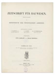 Zeitschrift für Bauwesen, Jr. XLV, 1895, H. 1-3