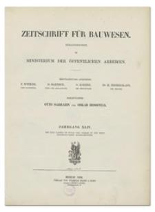 Zeitschrift für Bauwesen, Jr. XLIV, 1894, H. 4-6
