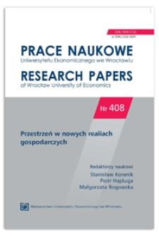 Znaczenie bliskości dla występowania efektu synergii w powiązaniach funkcjonalnych jednostek przestrzennych. Prace Naukowe Uniwersytetu Ekonomicznego we Wrocławiu = Research Papers of Wrocław University of Economics, 2015, Nr 408, s. 261-269