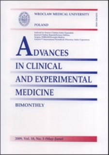 Advances in Clinical and Experimental Medicine, Vol. 18, 2009, nr 3