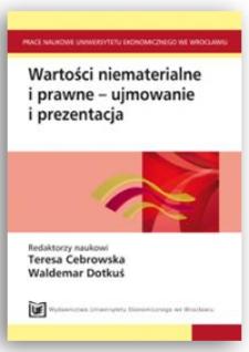 Dylematy postrzegania wartości niematerialnych i prawnych. Prace Naukowe Uniwersytetu Ekonomicznego we Wrocławiu, 2011, Nr 190, s. 209-225