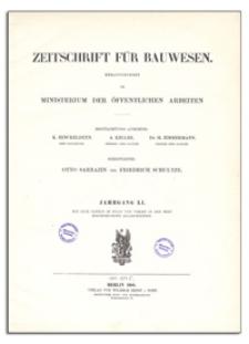 Zeitschrift für Bauwesen, Jr. LI, 1901, H. 10-12