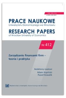 Risk of public family firms. Prace Naukowe Uniwersytetu Ekonomicznego we Wrocławiu = Research Papers of Wrocław University of Economics, 2015, Nr 412, s. 185-203