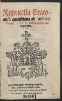 Rubricella Cracovien[sis] quottidiana ad annum Domini 1545 qui erit primus post Bisextilem