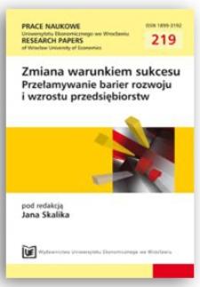 Zachowania przedsiębiorcze jako stymulatory wzrostu organizacji. Prace Naukowe Uniwersytetu Ekonomicznego we Wrocławiu = Research Papers of Wrocław University of Economics, 2011, Nr 219, s. 103-111