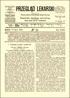 Przyczynek do nauki o leczeniu ran, Przegląd Lekarski, 1884, R. 23, nr 29, s. 393-395