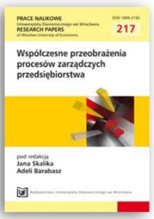 Teoria sieci i teoria rozwoju w zarządzaniu organizacjami świadczącymi usługi publiczne. Prace Naukowe Uniwersytetu Ekonomicznego we Wrocławiu = Research Papers of Wrocław University of Economics, 2011, Nr 217, s. 29-37