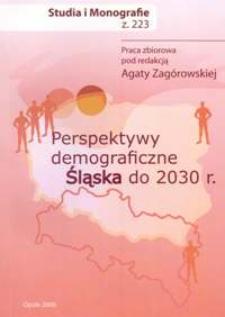 Perspektywy demograficzne Śląska do 2030 r.