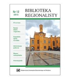Znaczenie klastrów w kształtowaniu się gospodarki kreatywnej regionów (na przykładzie Dolnego Śląska)