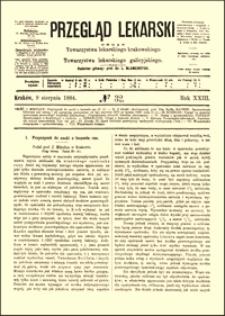 Przyczynek do nauki o leczeniu ran, Przegląd Lekarski, 1884, R. 23, nr 32, s. 433-435
