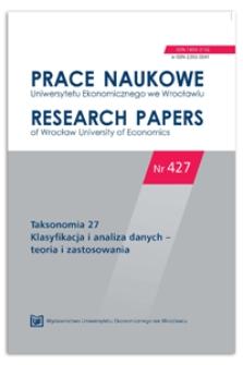 Wykorzystanie analizy log-liniowej do wyboru czynników determinujących współpracę w przedsiębiorczości technologicznej. Prace Naukowe Uniwersytetu Ekonomicznego we Wrocławiu = Research Papers of Wrocław University of Economics, 2016, Nr 427, s. 215-223