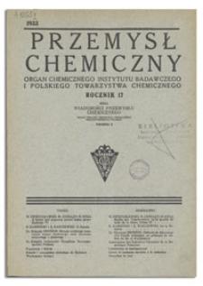 Wiadomości Przemysłu Chemicznego : Organ Związku Przemysłu Chemicznego Rzeczypospolitej Polskiej. R. VIII, 1 października 1933, nr 19