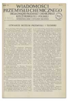 Wiadomości Przemysłu Chemicznego : Organ Związku Przemysłu Chemicznego Rzeczypospolitej Polskiej. R. IX, 15 czerwca 1934, nr 12