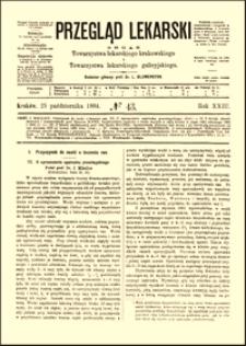 Przyczynek do nauki o leczeniu ran : o uproszczeniu opatrunku przeciwgnilnego, Przegląd Lekarski, 1884, R. 23, nr 43, s. 565-567