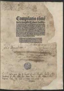 Copulata super octo libros Physicorum Aristotelis iuxta doctrinam Thomae de Aquino