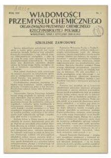 Wiadomości Przemysłu Chemicznego : Organ Związku Przemysłu Chemicznego Rzeczypospolitej Polskiej. R. XIII, 15 maja 1938, nr 10