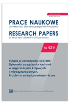Zarządzanie kapitałem intelektualnym jako nowe wyzwanie dla przedsiębiorstw funkcjonujących w warunkach gospodarki opartej na wiedzy. Prace Naukowe Uniwersytetu Ekonomicznego we Wrocławiu = Research Papers of Wrocław University of Economics, 2016, Nr 429, s. 49-59
