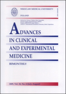 Advances in Clinical and Experimental Medicine, Vol. 18, 2009, nr 4